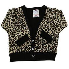 Babywearuk British Made Leopard Print Baby Cardigan Multicolored 100% supersoft cotton Leopard print baby cardigan. 0/3 months.  #BabywearUK #Apparel