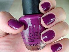 Purple OPI nails