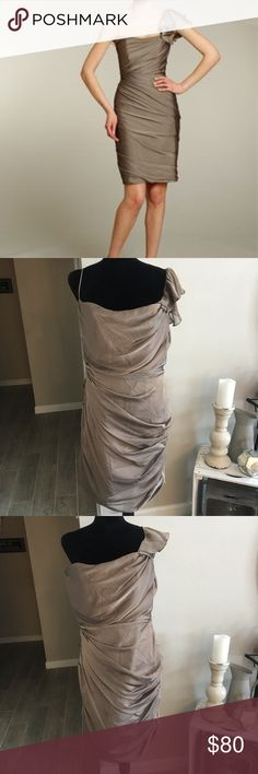 Jim Hjelm Occasions Dress. Jim Hjelm JLM Couture Style 5157. Chiffon dress size 16 NWT. Has a one shoulder strap and a spaghetti strap that you can wear whichever way as shown in picture. Great dress for any formal event, wedding, or holiday party. Jim Hjelm Dresses One Shoulder