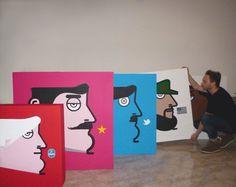 My studio! ;) iabo_world #painting #popart #pop #folks #folk #mate #amazing #art #artist #graffiti #museum #canvas #artist #cuba #losangeles #artstudio #masterpiece #milano #paintings #streetart #flag #picoftheday #inspiration #streetarteverywhere #spraypaint #instago #iaboworld #spraycan #instagallery