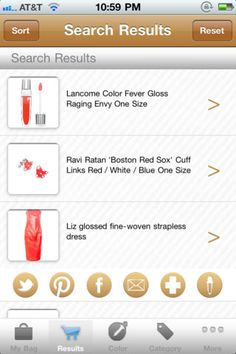 The only app that allows you to really shop by color.  Easily find shoes that match that dress in your closet perfectly.  Download the FREE Color Shopping Engine iPhone App!