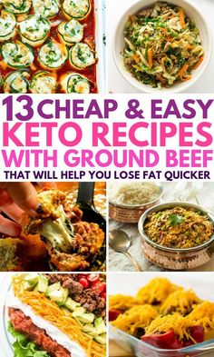 My family absolutely LOVES these keto recipes using ground beef. In fact, my kids beg me to make for dinner almost every night! These low carb recipes are so quick, easy and cheap to make, I just dump the ingredients into my slow cooker and set and forg Cooker Recipes, Crockpot Recipes, Diet Recipes, Healthy Recipes, Cheap Recipes, Lunch Recipes, Easy Kids Recipes, Soup Recipes, Slow Carb Recipes