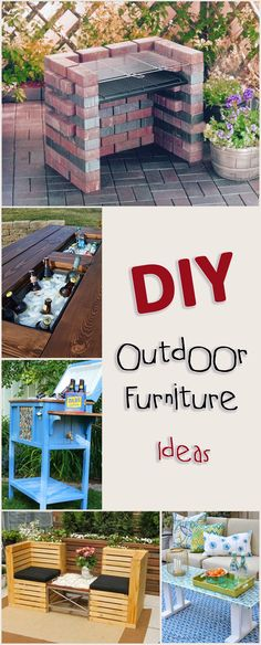 DIY Outdoor Furniture Ideas, Projects and Tutorials.