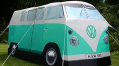 Volkswagen Bus tent... so getting this for the jungfer's camping trip next year! hahaha