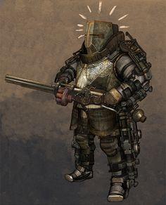 Medieval Steampunk Knight 2 by obyekt.deviantart.com on @deviantART