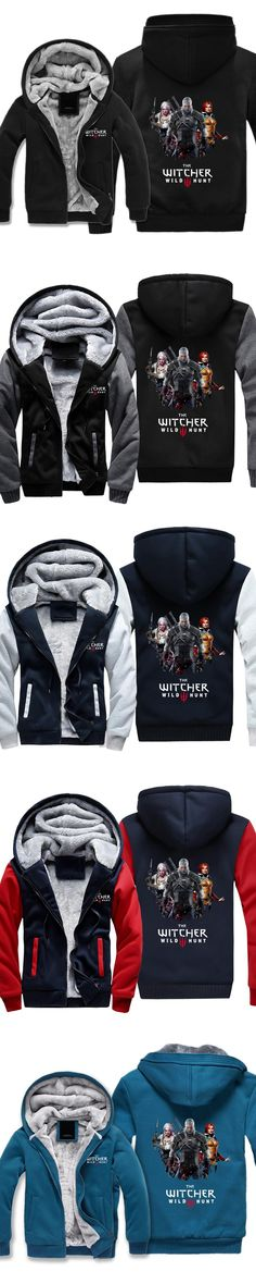 Hot Game The Witcher Wild Hunt Three Guys 3D Digital Printed Hoody Cotton Pocket Outerwear Unisex Coat M-5XL Plus Drop Ship