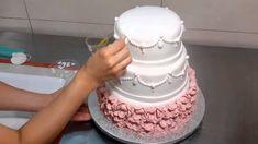 How To make an Elegant Wedding Cake Step By Step 13dca545fe8e1