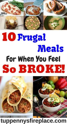 10 Frugal Meals For When You Feel So Broke Tasty super cheap and easy meals that won't break your budget. Crock pot and 3 ingredient recipes along with vegetarian and low carb. Budget Family Meals, Cooking On A Budget, Frugal Meals, Easy Meals, Frugal Tips, Healthy Snacks, Healthy Recipes, Cheap Recipes, Budget Recipes