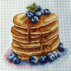 "Finished work by pattern ""Pancakes"" #sa_stitch #sa_pattern #pattern #crossstitch"