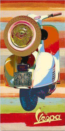 Vintage Italian Posters  ~ Vespa Cool                                                                                                                                                                                 More