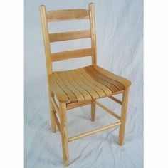 Adult Ladder Back Chair Finish: Natural by Dixie Seating Company. $99.00. 80Natural/Slat Finish: Natural Features: -Handcrafted with North American ash hardwood. -Slat seat. -Interlocking swelled wood joints. -Machined and hand-sanded for a smooth uniform surface. -Made in the USA.
