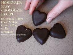 healthy chocolate recipe  przepis na domowej roboty zdrową czekoladę