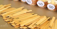 Practice rounding numbers to the nearest ten with this fun, reusable craft stick activity! Easy to prepare and can be used for many different activities! Craft Sticks, Craft Stick Crafts, Math Round, Rounding Numbers, Third Grade Math, Second Grade, Math Blocks, Math Lessons, Math Skills