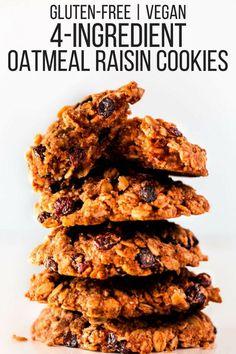 Gluten-Free Vegan Oatmeal Raisin Cookies - One Clever Chef