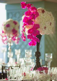 Featured Photographer: Binaryflips Photography; Wedding reception centerpiece idea.