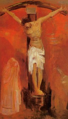 The Crucifixion 1904 Odilon Redon WikiPaintings- a gift God gave us...