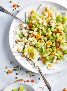 Feta and Celery Salad Veggie Recipes, Fall Recipes, Dinner Recipes, Cooking Recipes, Healthy Recipes, Celery Salad, Feta Salad, Ricardo Recipe, New Cooking