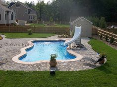 Fiberglass Pool Ideas fiberglass pools with tanning ledge pool backyardbackyard ideasoutdoor River Pools Spas 16 X 35 Freeform Fiberglass Pool Pool Area Ideas