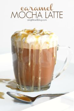 Easy Caramel Mocha Latte you can make at home and in minutes!