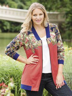 Floral Fields Knit Bomber Jacket