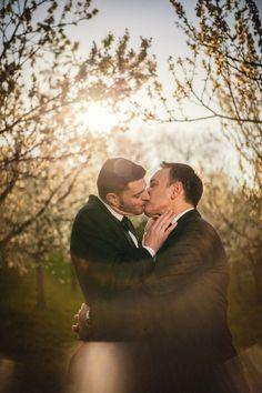 Graham & Wayne post wedding portrait session in Prague  by American Photographer Kurt Vinion.