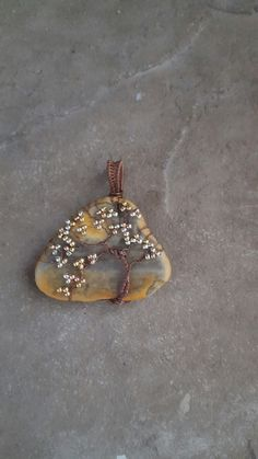 Wire tree pendant with shell background from Modern Mermaid Design.