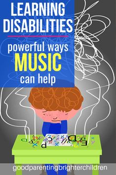 Here are 2 very powerful ways music can help kids who are learning-disabled. Strategies, activities, types of learning disabilities and ideas to increase awareness. How music helps kids with auditory processing and other learning issues. Music Activities For Kids, Preschool Special Education, Gifted Education, Music For Kids, Infant Activities, Music Education, Preschool Activities, Learning Tips, Kids Learning