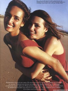 yasmin le bon & Gail Elliot Vogue Paris, May 1990