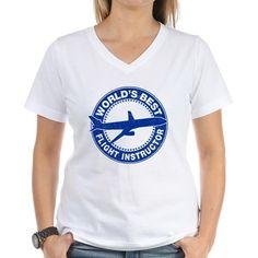 worlds best flight instructor T-Shirt on CafePress.com #flightinstructor #aviation #pilot #avgeek