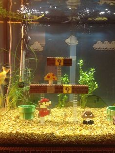 Super Mario Bros. Fish Tank made by LEGO