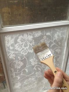 She was tired of missing out on natural sunlight just to have a little privacy so she made her own privacy screens using corn starch!