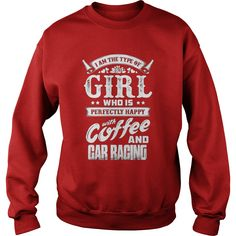 happy with coffee and car racing t shirt gift ideas popular - Racing T Shirt Design Ideas