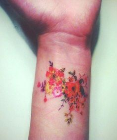 Floral Wrist Tattoo Design