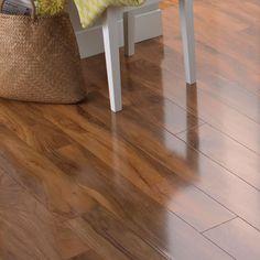 Dolce High Gloss Walnut Effect Laminate Flooring 1.19 m² Pack   Departments   DIY at B&Q