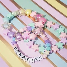 Kawaii Jewelry, Kawaii Accessories, Cute Jewelry, Mermaid Wallpaper Backgrounds, Rainbow Sweets, Kandi Bracelets, Anime Drawing Styles, Easter Toys, Baby Pink Aesthetic