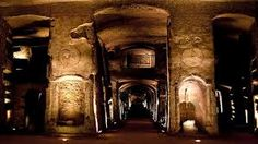 The Catacombs of Naples, in Campania, make for a millenary monument to Neapolitan religiosity. Of these, the Catacombs of San Gennaro cover approximately sq ft within tuff. Naples, San Gennaro, The Catacombs, Underground Cities, Early Christian, Hiding Places, Byzantine, History, Image