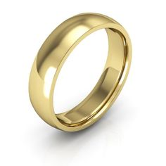 18k yellow gold mens and womens wedding bands 5mm comfort fit light - Gold Wedding Rings For Men