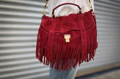 Blog Betty, purse. Red on -