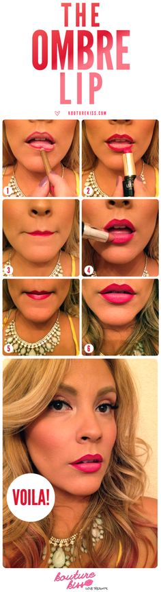 The Easy Ombré Lip - Kouturekiss - Your One Stop Everything Beauty Spot - kouturekiss.com.