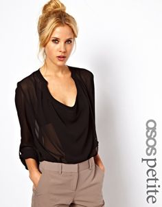 Blouse with Drop Neck