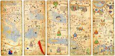 Монголын эзэнт гүрнийг дүрсэлсэн эртний газрын зураг