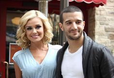 Katherine Jenkins and Mark Ballas.  One of my favorite former dancing couples on DWTS.