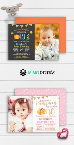Create your own adorable kids birthday party invitations today! Kids Birthday Party Invitations, Birthday Ideas, Birthday Parties, 28th October, Little Pumpkin, Cute Kids, Thank You Cards, Rsvp, First Birthdays