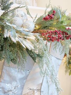 Incorporating different textured garland.