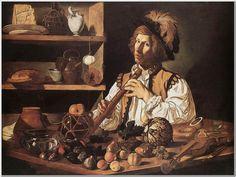 """Cecco Del Caravaggio The Flute Player Oil on canvas 1615-1620 103 x 138 cm (40.55"""" x 54.33"""")"""