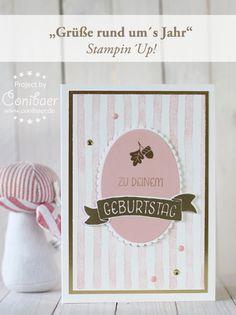 Ein rosa goldener Geburtstag - { Conibaers creative desk } Constanzes kreatives…
