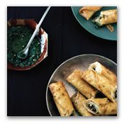 Mushroom and Goat Cheese Flautas: Savvy Miss.com