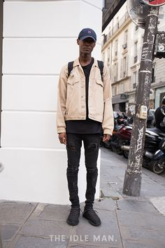 Men's Street Style | Distressed Denim - Make a simple outfit more interesting and edgy with the addition of a distressed pair of jeans. | Shop the look at The Idle Man