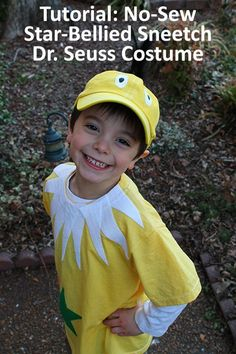 Tutorial How to Make a Star Bellied Sneetch Dr. Seuss Costume - perfect for Dr Seuss/ Read Across America Week