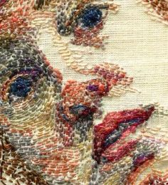 ♒ Enchanting Embroidery ♒ embroidered face - brieana ruais